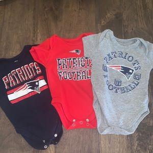 Patriots baby onesies